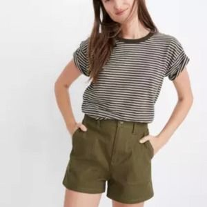 Madewell Camp Short in Kale Green M